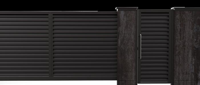 Фасадные ограждения из металлических профилей